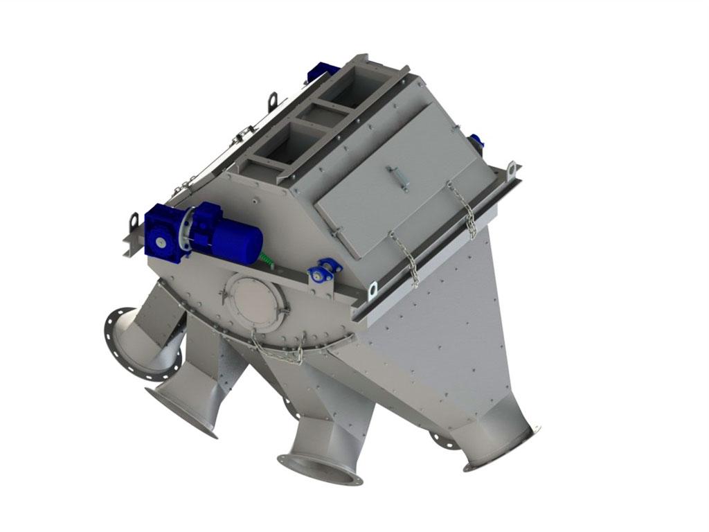 перекидные клапаны для сыпучих материалов