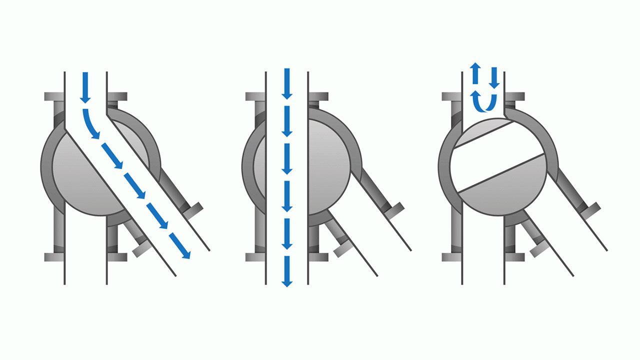 перекидной клапан для сыпучих материалов